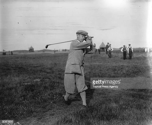 J L C Jenkins competing in the Amateur Golf Championship at Sandwich which he went on to win