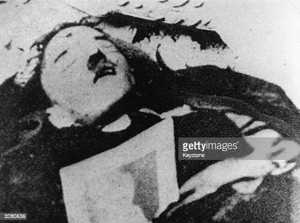 The supposed corpse of German Fuhrer Adolf Hitler which turned out to be the body of a double found in the ruins of the Reichskanzlei