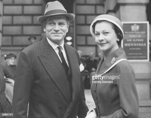 English actor and director Sir Laurence Olivier with his second wife English actress Vivien Leigh
