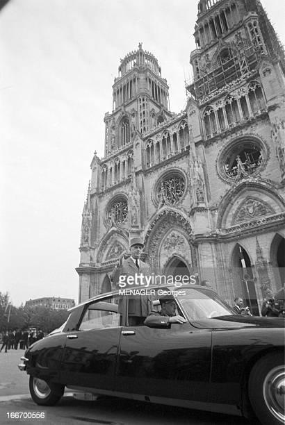 May 1959 Charles De Gaulle Travels In The Center Orleans Blois Tours Bourges Chateauroux Charles DE GAULLE président de la République française en...