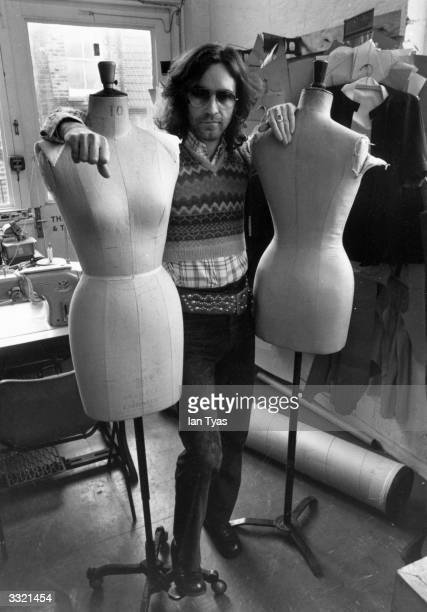 British fashion designer Ossie Clark in his studio aged 29