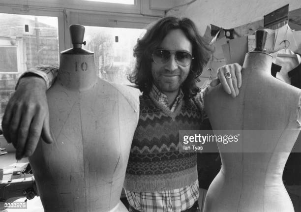 English fashion designer Ossie Clark aged 29 in his studio
