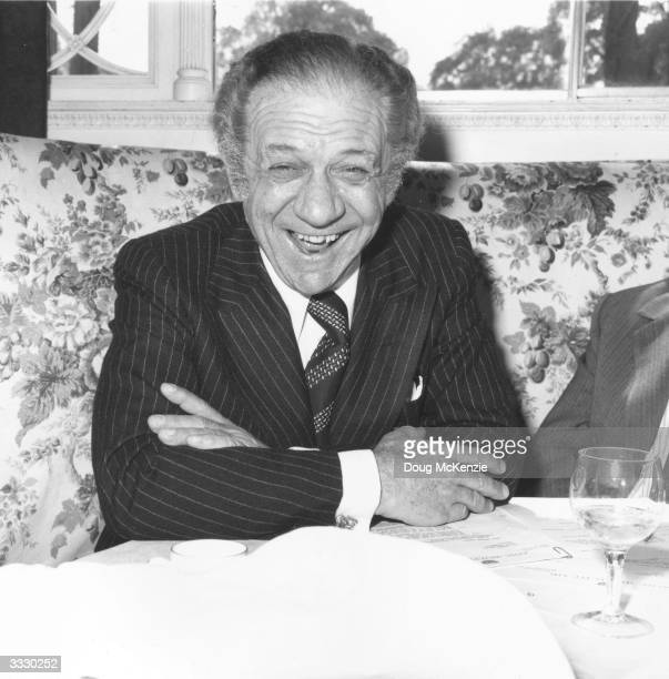 British comic actor Sid James famous for his roles in the 'Carry On' series of films