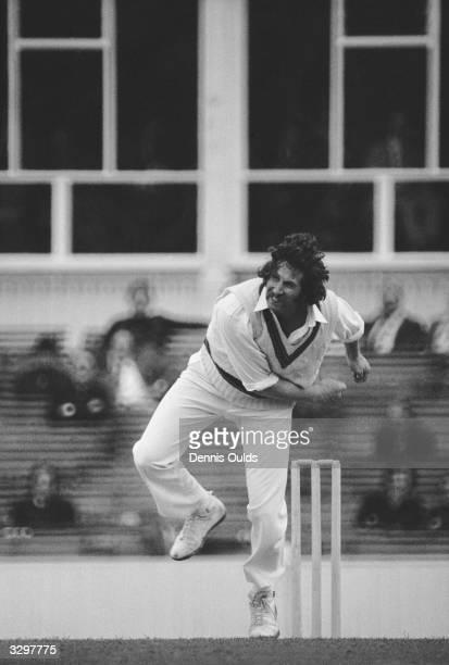 Australian fast bowler Max Walker in action