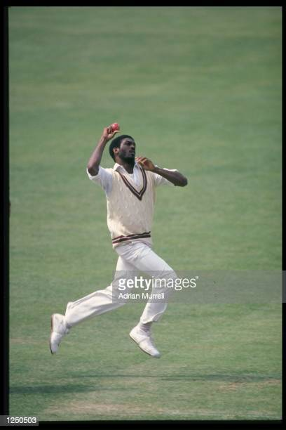Michael Holding bowls for the West Indies during the tour match against Middlesex at Lords Mandatory Credit Adrian Murrell/Allsport UK