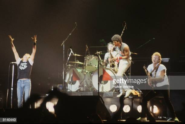Rock band 'Foreigner' playing at Wembley stadium in London