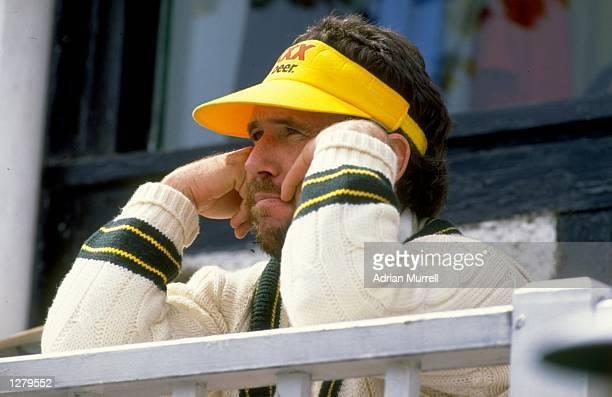 Australian Captain Allan Border watches the match against Worcestershire Mandatory Credit Adrian Murrell/Allsport