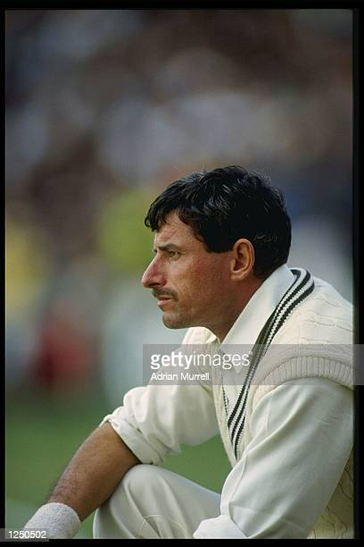Richard Hadlee of New Zealand in thoughtful mood before the 2nd 1 day international against England at The Oval Mandatory CreditAdrian...