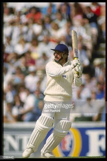 Allan Lamb of England batting Mandatory Credit /Allsport UK