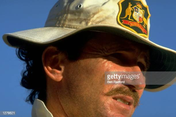 Portrait of Allan Border of Australia during the Fifth Test against the West Indies at the Recreation Ground in St Johns Antigua Australia won by 157...