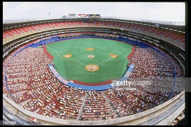 General view of action between the San Diego Padres and the Pittsburgh Pirates at Three Rivers Stadium in Pittsburgh Pennsylvania
