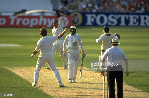 Ian Botham of England in action during the second One Day match against Pakistan at the Kensington Oval in London Mandatory Credit Adrian...