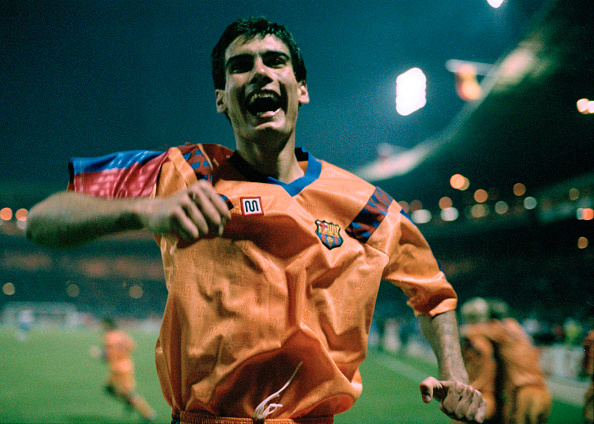 Pep Guardiola Joy 1992 : News Photo
