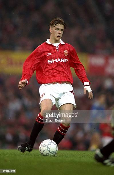 David Beckham of Manchester United Youth in action during a match Mandatory Credit Shaun Botterill/Allsport