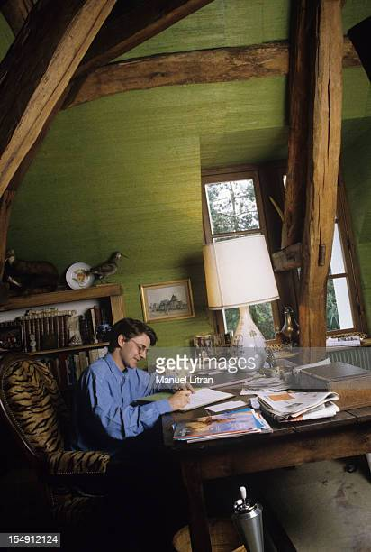 May 1995 Francois Baroin spokesman for the Juppe government at home in his office