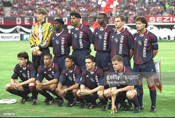 The Ajax team pose for a photograph before the European Cup Final against Milan in Vienna Austria Ajax won the match 10 Mandatory Credit Clive...