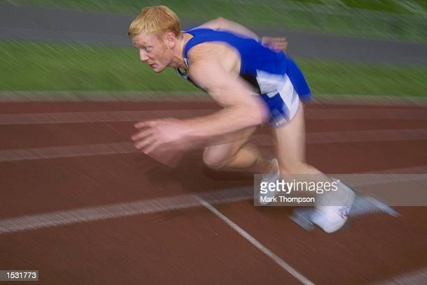 400 metres contender Iwan Thomas of Wales in action during a feature in Southampton Mandatory Credit Mark Thompson/Allsport