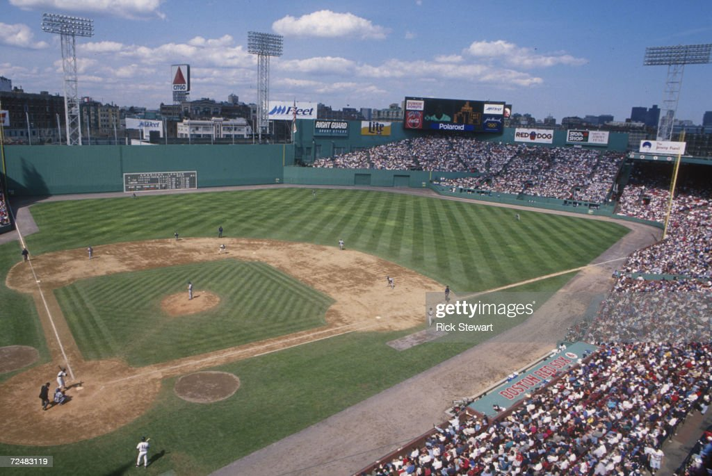 A general view of Fenway Park during a game between the Red Sox and the Toronto Blue Jays Mandatory Credit Rick Stewart/ALLSPORT