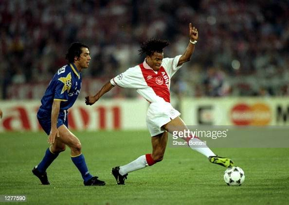 Edgar Davids of Ajax in action during the European Cup Final against Juventus at the Olympic Stadium in Rome Mandatory Credit Shaun Botterill...
