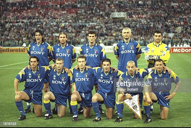 The Juventus team before the European Cup Final against Ajax Amsterdam in Rome Italy Juventus won the match 42 on penalties Mandatory Credit Shaun...