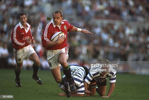 Gregor Townsend of the British Lions breaks through the Western Province defence during the tour match at Norwich Park in Newlands Cape Town South...
