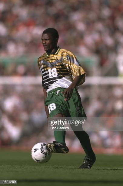 John Moeti of South Africa in action during the International Friendly against England at Old Trafford in Manchester England England won 21 Mandatory...