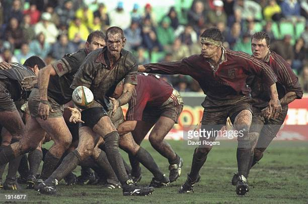 Rob Wainwright of the British Lions closes down Andre Fox of Border during the match at the Basil Kenyon Stadium in East London Eastern Cape South...