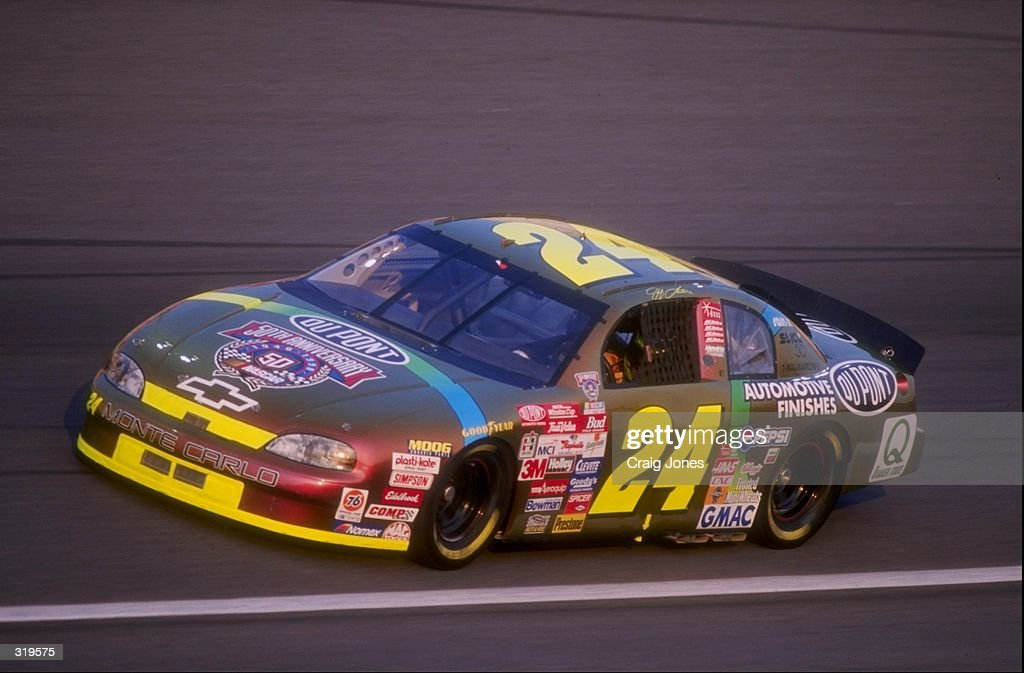 Driver Jeff Gordon in action during the Winston at the Charlotte Motor Speedway in Concord North Carolina Mandatory Credit Craig Jones /Allsport