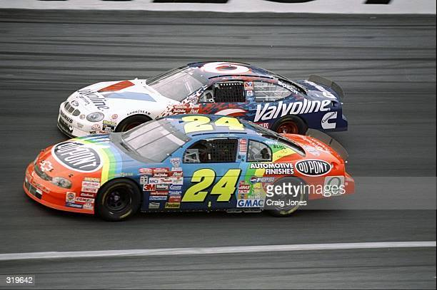 Jeff Gordon passes Mark Martin during the Nascar Coca Cola 600 at the Charlotte Motor Speedway in Concord North Carolina Mandatory Credit Craig Jones...