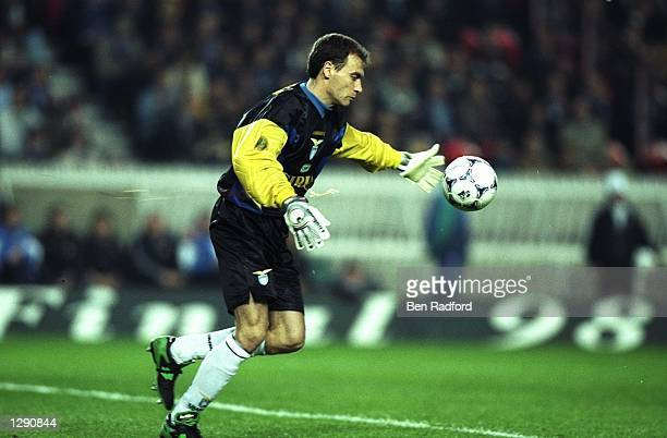 Lazio goalkeeper Gianluca Marchegiani in action during the UEFA Cup final against Inter Milan at Parc des Princes in Paris Inter Milan won the match...