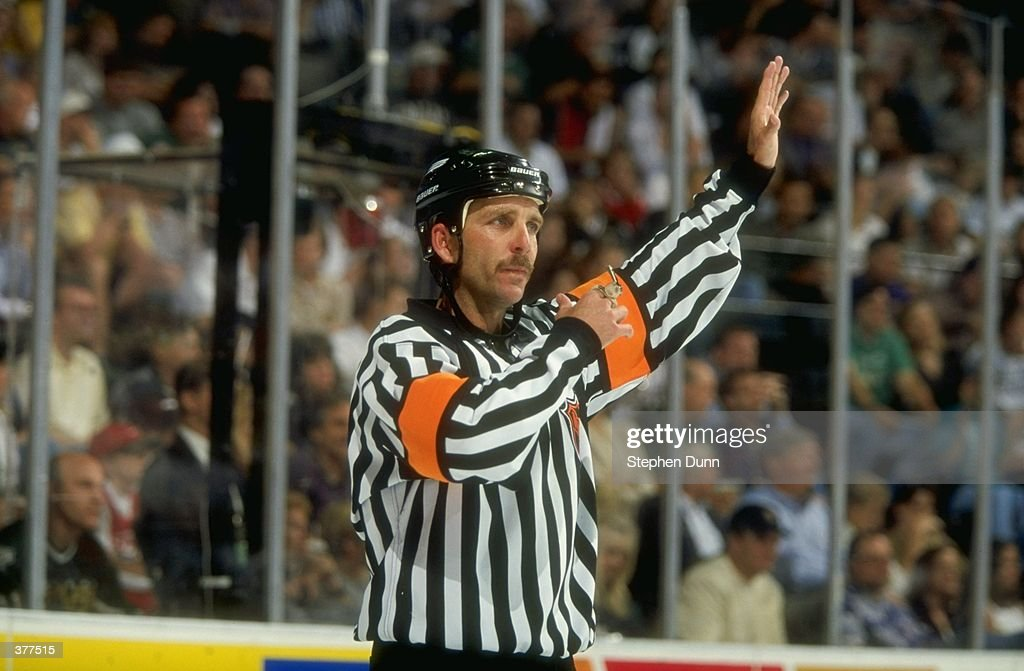 Referee Rob Shick in action during the Detroit Red Wings NHL Western Conference Final game against the Dallas Stars at the Reunion Arena in Dallas...