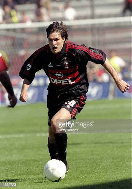 Andres Guglielminpietro of AC Milan in action during the Serie A match against Perugia at the Stadio Renato Curi in Perugia Italy The match finished...