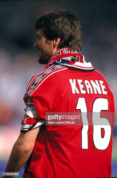 22 May 1999 FA Cup Final Manchester United v Newcastle United Manchester captain Roy Keane in his number sixteen shirt