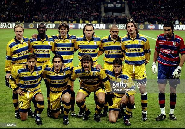 Parma team group before the UEFA Cup Final against Marseille played in Moscow Russia The match finished in a 30 win for Parma and they added to their...