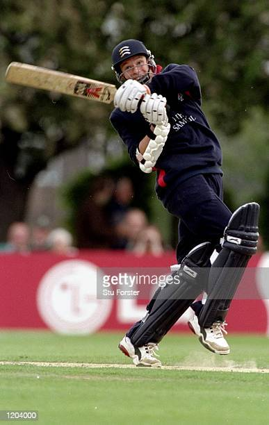 Richard Kettleborough of Middlesex bowls during a Cricket World Cup warm up match against South Africa played in Southgate England Mandatory Credit...