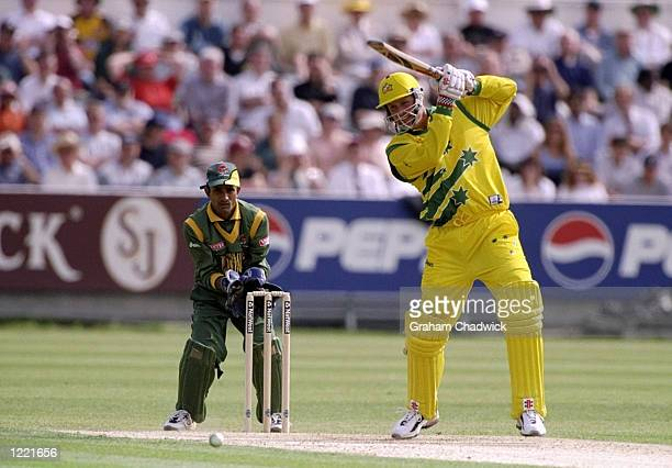 Tom Moody of Australia on his way to 56 not out in the World Cup Group B match against Bangladesh at the Riverside Ground in ChesterleStreet Durham...