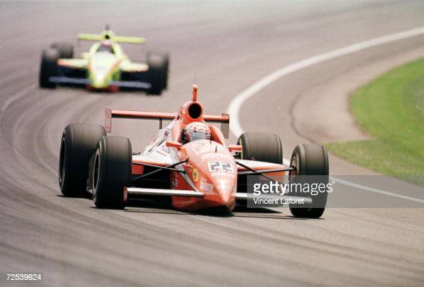Tony Stewart races at the Indianapolis 500 in Indianapolis Indiana Mandatory Credit Vincent Laforet/ALLSPORT