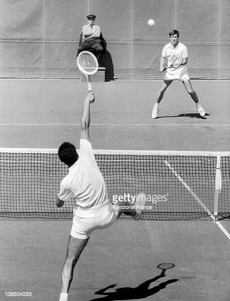 May 1St 1966 French Francois Jauffret Beat Romanian Ion Tiriac In 3 Sets 64 64 61 On The RolandGarros Court