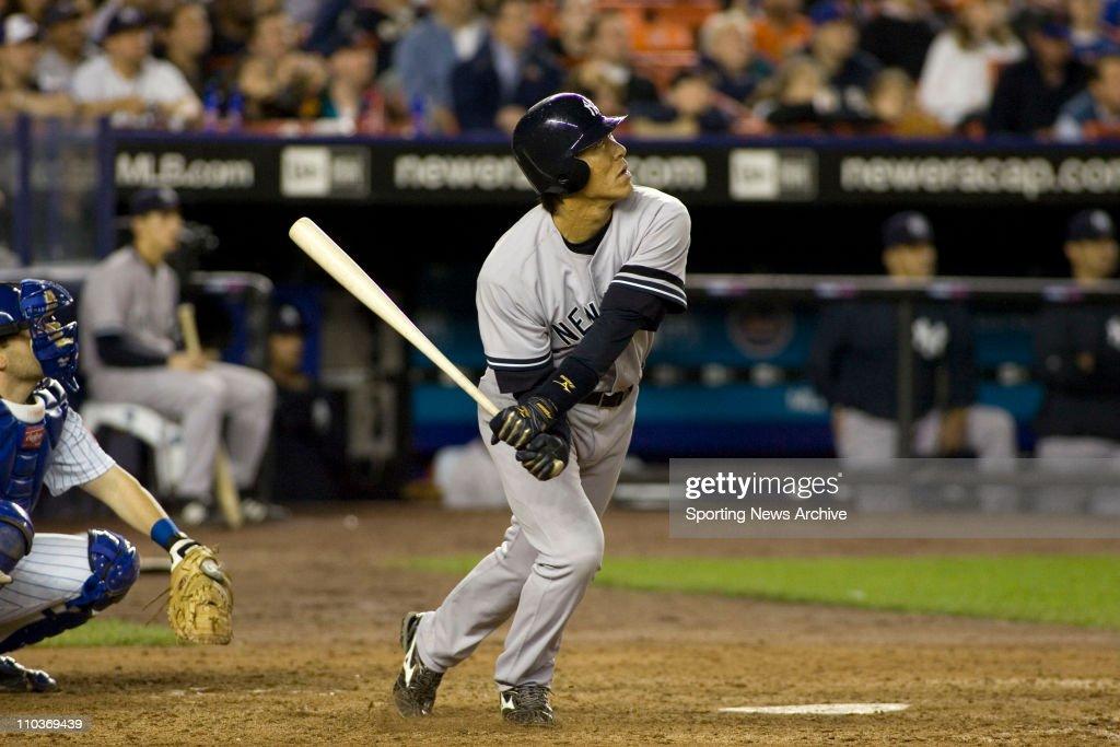 May 20 2007 New York NY USA HIDEKI MATSUI during the New York Yankees against New York Mets at Shea Stadium in New York The Yankees won the game 62