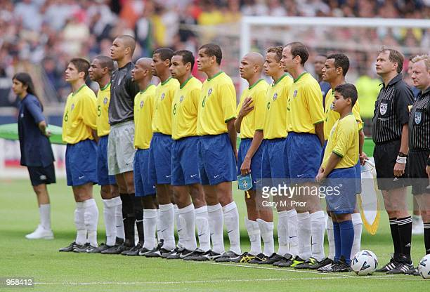 Brazil lineup before the International Friendly match against England played at Wembley Stadium in London The match ended in a 11 draw Mandatory...