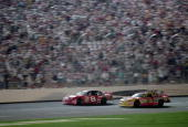 Dale Earnhardt Jr #8 with Dale Earnhardt Inc and Dale Earnhardt with Richard Childress Racing are in action during The Winston part of the NASCAR...