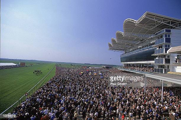 General view from the members stand during the Guineas meeting at Newmarket in England Mandatory Credit Paul Severn /Allsport
