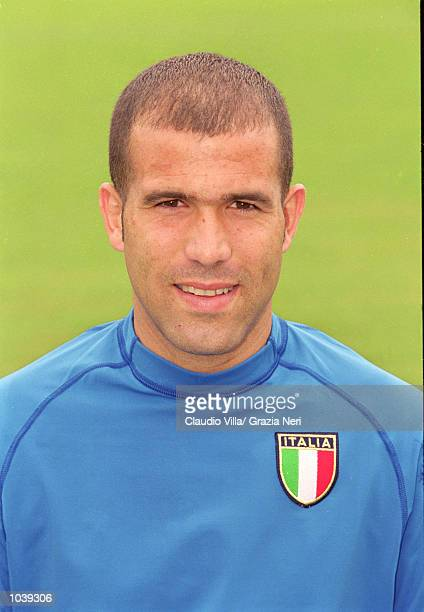 Headshot of Luigi Di Biagio of Italy during the Italian national team squad training held at the National Team Headquarters in Coverciano Florence...