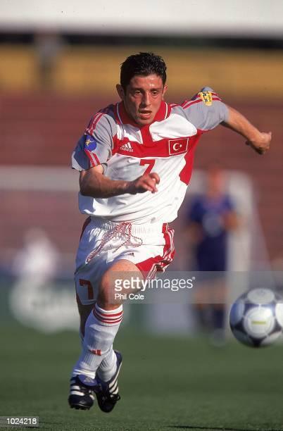 Nihat Kahveci of Turkey in action during the European Under 21 Championships Group B match against Slovakia at the Inter Stadium Bratislava Slovakia...