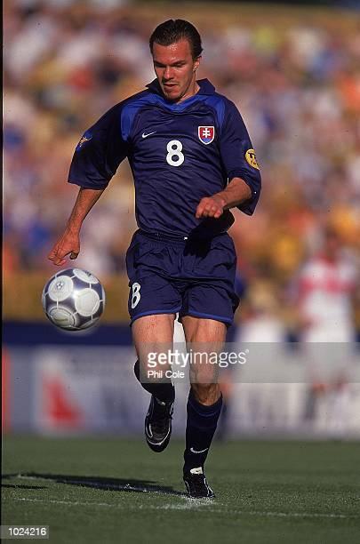 Szilard Nemeth of Slovakia in action during the European Under 21 Championships Group B match at the Inter Stadium Bratislava Slovakia Slovakia won...