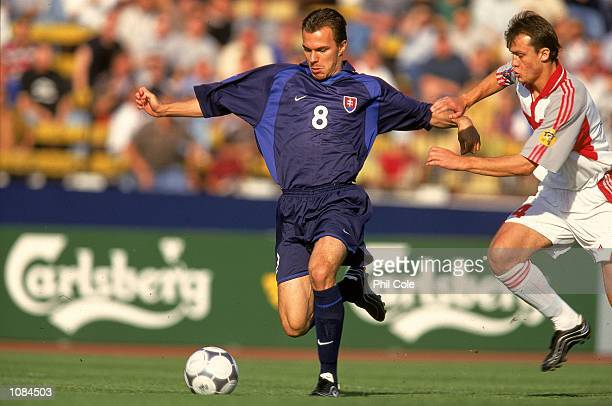 Szilard Nemeth of Slovakia in action during the European Under21 Championships against Turkey played at the Inter Stadium in Bratislava Slovakia...