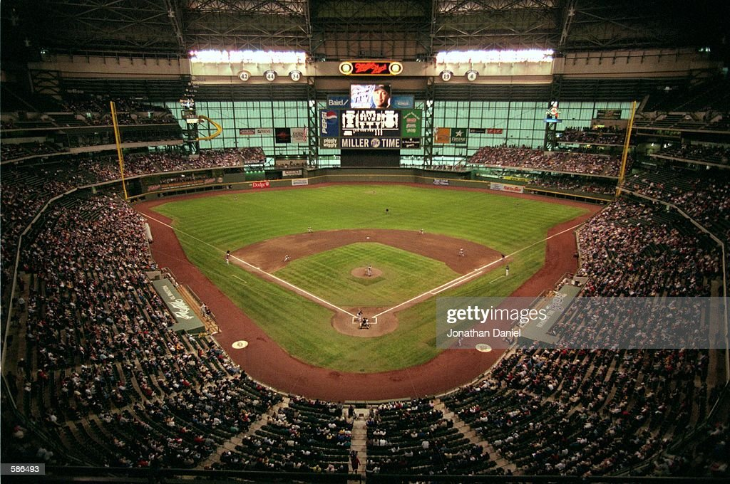 A general view of the field at the Brewers'' new Stadium Miller Park in Milwaukee WisconsinMandatory Credit Jonathan Daniel /Allsport