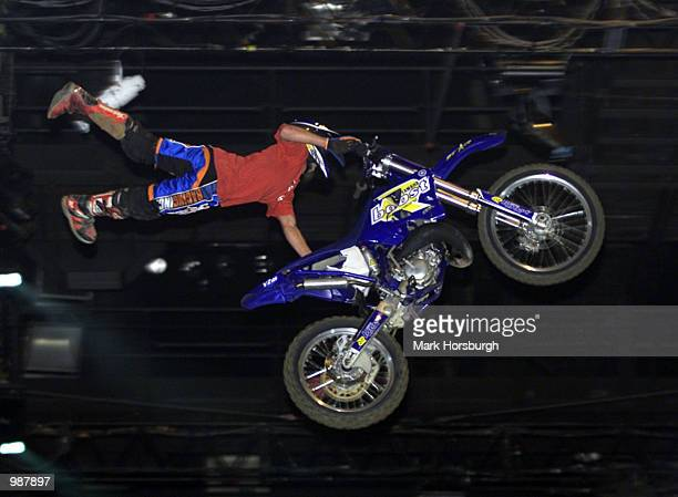 Coffs Harbour's Daniel Hall goes 'off' during the opening round of the Crusty Demons of Dirt World Tour at the Brisbane Entertainment Centre Brisbane...