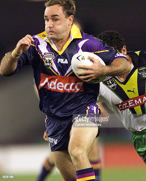 Danny Williams for the Storm in action during the round 13 NRL match between the Melbourne Storm and Canberra Raiders at Colonial Stadium Melbourne...