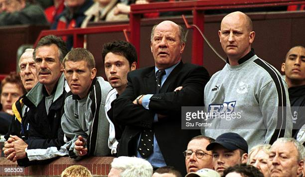 Derby County manager Jim Smith during the FA Carling Premiership match between Manchester United and Derby County at Old Trafford Manchester...